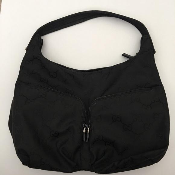 Gucci Handbags - Gucci Vintage Hobo Black Bag Great Condition